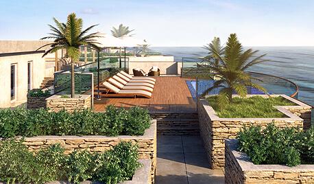 3D визуализация островного отеля